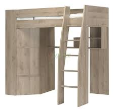 White Wood Loft Bed With Desk by Timber Kids Loft Bunk Beds With Desk Closet Gautier Gami Furniture