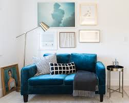 the perfect small space sofa and how to style it