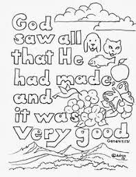 genesis 1 verse 1 coloring homeschool preschool