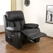 chester heated leather massage recliner chair sofa lounge gaming