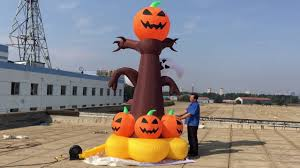 halloween inflatable halloween inflatable pumpkin tree youtube