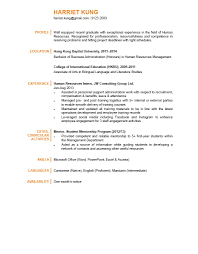 Resume Examples For Students by Human Resources Graduate Cv Ctgoodjobs Powered By Career Times