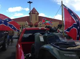 Confederate Flag Rear Window Decal Supporters Rally After Made Students Take Down Rebel Flags