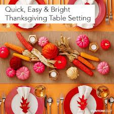 easy bright thanksgiving table setting clinton