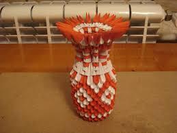 3d Origami Flower Vase Instructions 3d Origami Vase Tutorial 5 Youtube
