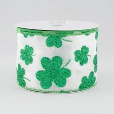 shamrock ribbon wired edge st s day wired craftoutlet