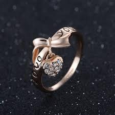 rings love heart images Love heart bow ring jpg