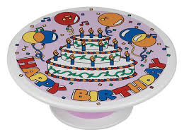 cake plates birthday musical