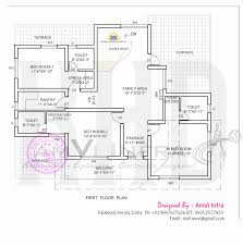 5 bedroom house elevation with floor plan indian plans first