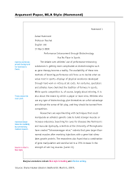 Scholarly Essay Examples This Image Shows The First Page Of An Mla Paper Hacker Example