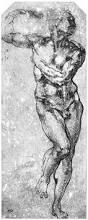 study of man michelangelo drawing anatomy pinterest