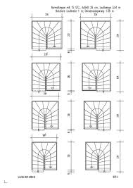 gewendelte treppen treppengrundrisse für 2 4 eng gewendelte treppen mit maßen