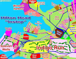 Map Of Hilton Head Island Hilton Head Instep Indigo Run Windmill Harbour Interactive Map