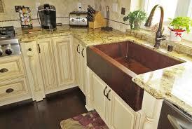 Rustic Kitchen Sink Interior Decor Charming Copper Farmhouse Sink For Rustic Kitchen