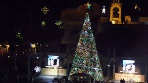 thousands celebrate as bethlehem lights tree newsweek