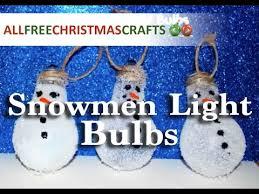 how to make a snowman light bulb ornament