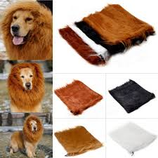 Halloween Costumes Large Dogs Pet Lion Mane Wig Halloween Costume Clothes Large Dog Cat 80cm