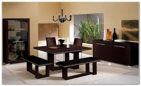 Slim Dining Chairs Furniture Contemporary Square Dining Table Upholstered Benches