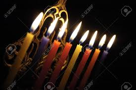 chanuka candles chanuka candles in chanukia stock photo picture and royalty free