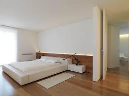 bedroom wood flooring minimalist interior in tuscany italy