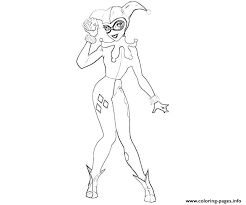 harley quinn coloring pages free printable