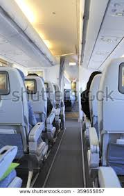 Airplane Interior Airplane Interior Seats Perspective Aisle Stock Photo 53714743