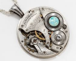 crystal rope necklace images Steampunk necklace with waltham pocket watch movement flower jpg