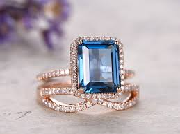 london blue topaz engagement ring london blue topaz engagement ring with diamond 2pcs solid 14k
