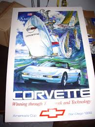corvette america parts f s nos corvette america s cup poster big color corvetteforum