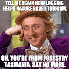 Tasmania Memes - creepy condescending wonka meme imgflip