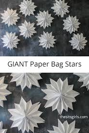 giant paper bag stars paper stars ceilings and tutorials