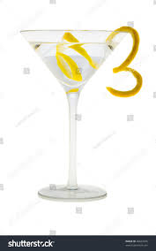 martini grasshopper martini mixed drink lemon peel garnish stock photo 46623205