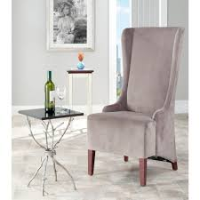 safavieh bacall mushroom taupe cotton dining chair mcr4501b the