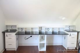 how to make a desk from kitchen cabinets desk height base cabinets easy diy built in tutorial finding home