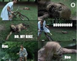 Meme End Of The World - about the bikes disappearing in the end of the world meme guy