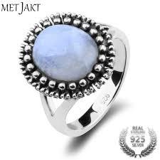 natural gem rings images Natural gem moonstone rings solid 925 sterling silver vintage ring jpeg