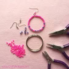 hoop beaded earrings beaded hoop earrings tutorial craftaholique