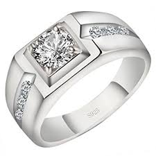 mens rings with images Viyino men 39 s rings 925 sterling silver upscale men 39 s engagement jpg