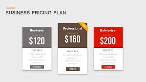 business pricing plan powerpoint and keynote template slidebazaar