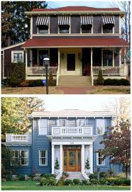 colonial house with farmers porch 20 home exterior makeover before and after ideas home stories a to z