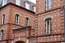 an interesting brick building facade u2013 paris france anthropogen