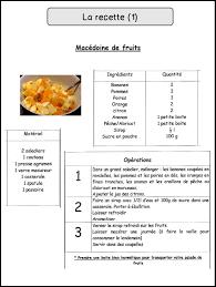 recette de cuisine ce1 la recette mimiclass