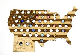 Beer Map Usa by Usa 50 States Beer Cap Map Laser Engraved Beer Bottle Cap