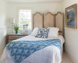 bedrooms small shabby chic bedroom with white bed and blue