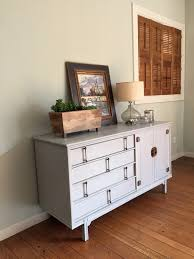 Painted Mid Century Furniture by Mid Century Modern Buffet Painted In Paris Grey Barnaclebutt