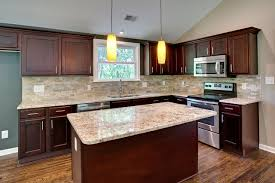 furniture traditional style kitchen with l shapd brown espresso