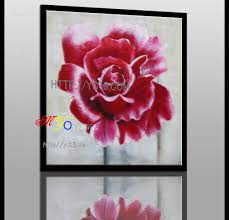 modern hand painted home decor artwork oil painting on canvas pink