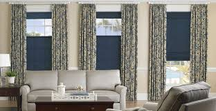 3 Panel Window Curtains Soft Roman Shades With Drapery Panels Available At 3 Day Blinds