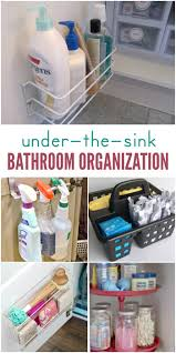 ways organize under the bathroom sink