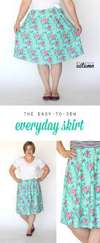 pattern for simple long skirt the everyday skirt simple sewing tutorial it s always autumn